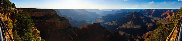 Grand Canyon Sunset Panorama Print by David Waldo