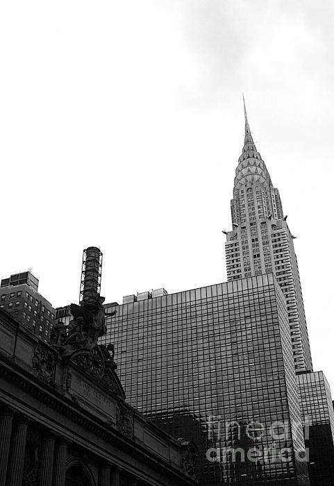 Grand Central-grand Hyatt-chrysler Print by David Bearden