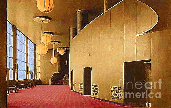 Grand Foyer In The Center Theatre In New York City 1940 Print by Dwight Goss