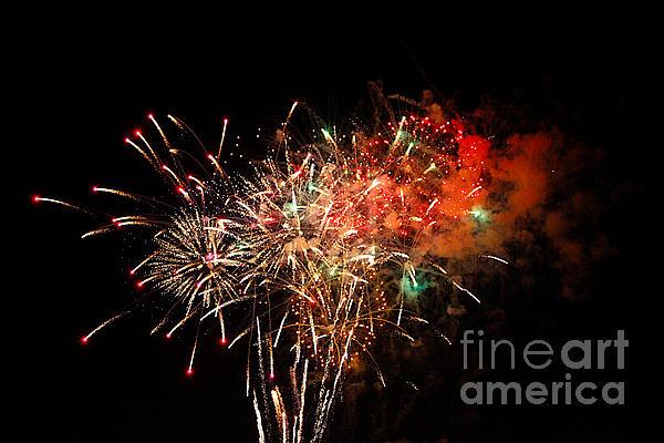 Grand Haven Mi Fireworks Print by Robert Pearson