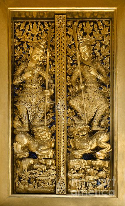 Grand Palace Doors - Bangkok Thailand Print by Craig Lovell