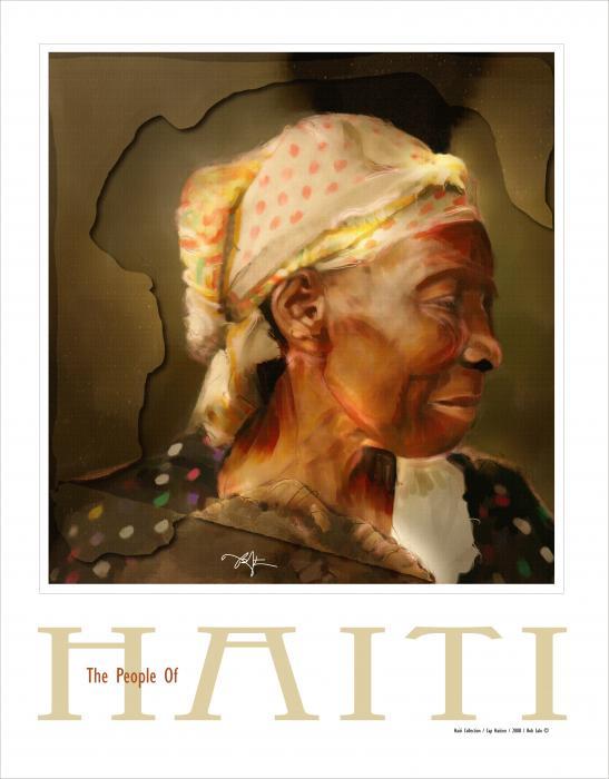 grandma - the people of Haiti series poster Print by Bob Salo