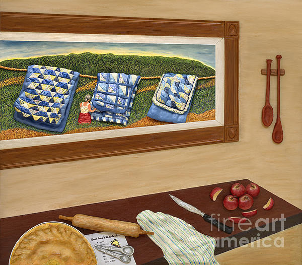Grandma's Apple Pie Print by Anne Klar