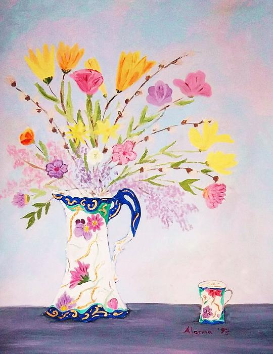 Grandma's Chocolate Set Print by Alanna Hug-McAnnally