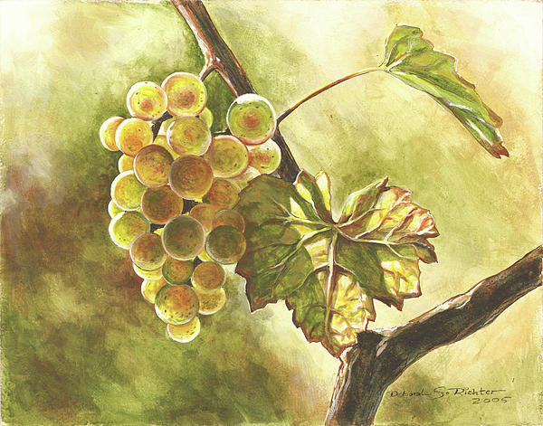 Grapes Print by Deb Richter
