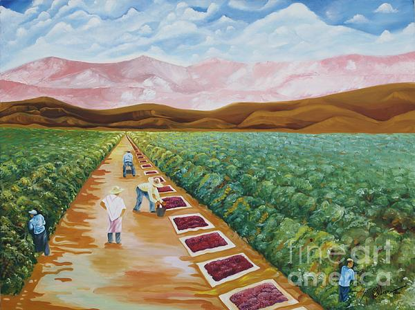 Grapes Farmers Print by Johnny Otilano