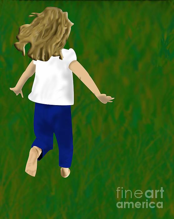 Grass Under My Feet Print by Melissa Stinson-Borg