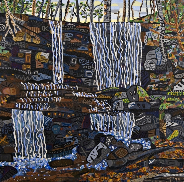 Grassy Creek Falls Print by Micah Mullen