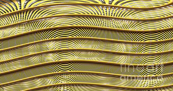 Grate Of Yellow Print by Ron Bissett
