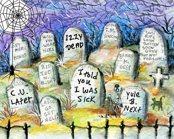 Grave Yard Print by Sylvia Pimental