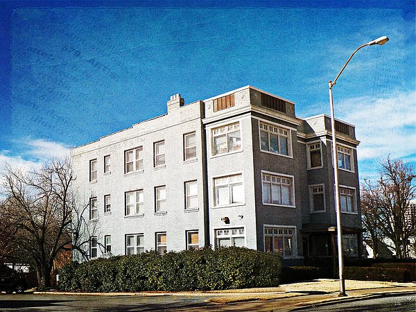 Gray Brick Apartment Building Print by Linda DealBrick Apartment Building