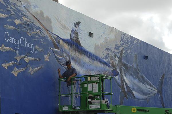 Carey Chen - Gray Taxidermy Mural