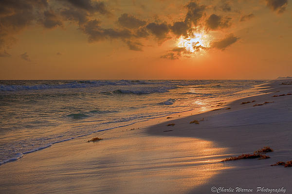 Grayton Beach Sunset 7 Print by Charles Warren