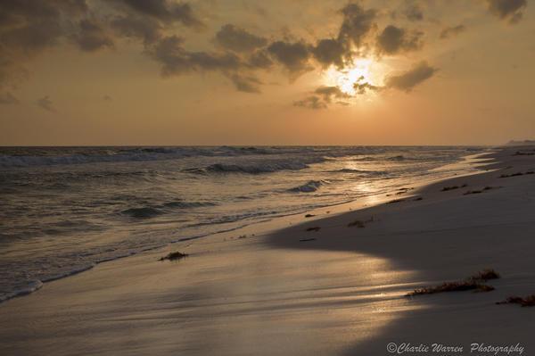 Grayton Beach Sunset Print by Charles Warren