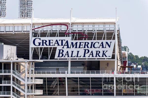 Great American Ball Park Sign In Cincinnati Print by Paul Velgos