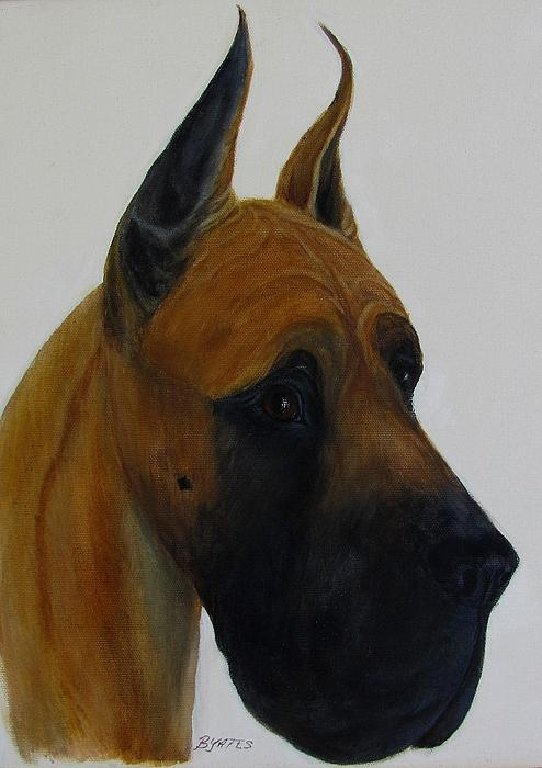Great Dane Art Painting Adult Fawn by Barb Yates Painting - Great Dane Art ...