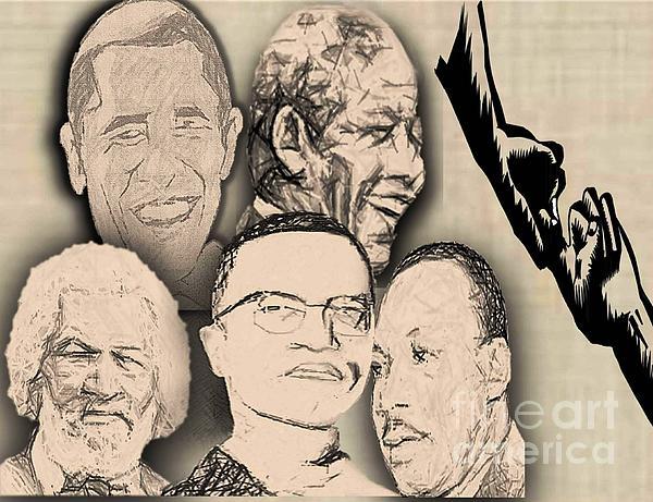 Great Powerful African American Men Print by Belinda Threeths