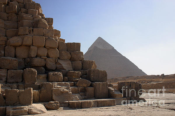 Great Pyramids Khafre Print by Darcy Michaelchuk