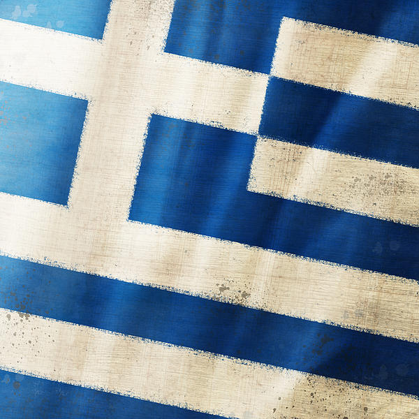 Greece Flag Print by Setsiri Silapasuwanchai