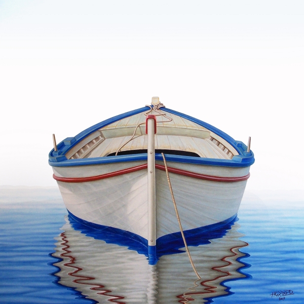 Greek Boat Print by Horacio Cardozo