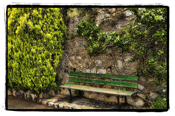 Green Bench Print by Mauro Celotti