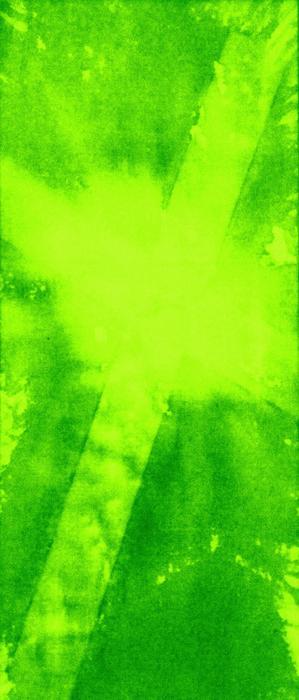 Green Cross Print by Brandi Webster