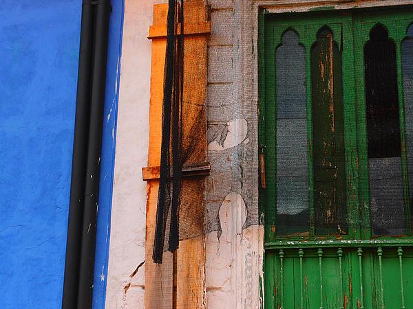Green Door Print by Skip Hunt