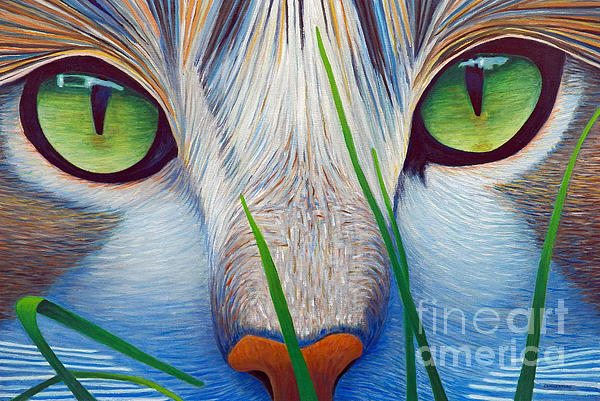 Green Eyes Print by Brian  Commerford