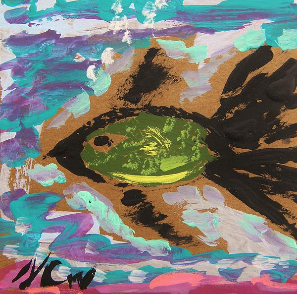 Mary Carol Williams - Green Fish Over Pink Sand