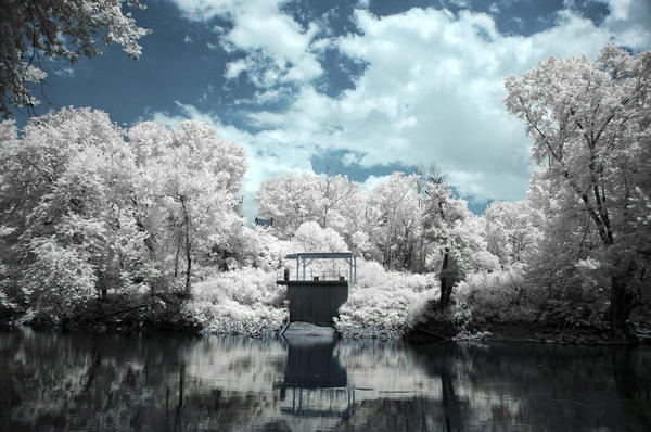 Green River Ir Print by Amber Flowers
