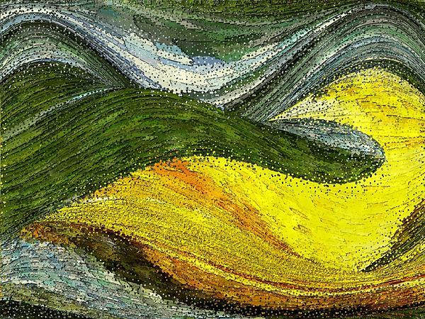 Green Sea Print by Tinatin Dalakishvili