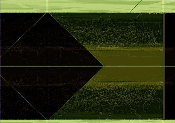 Green Square Print by Naxart Studio