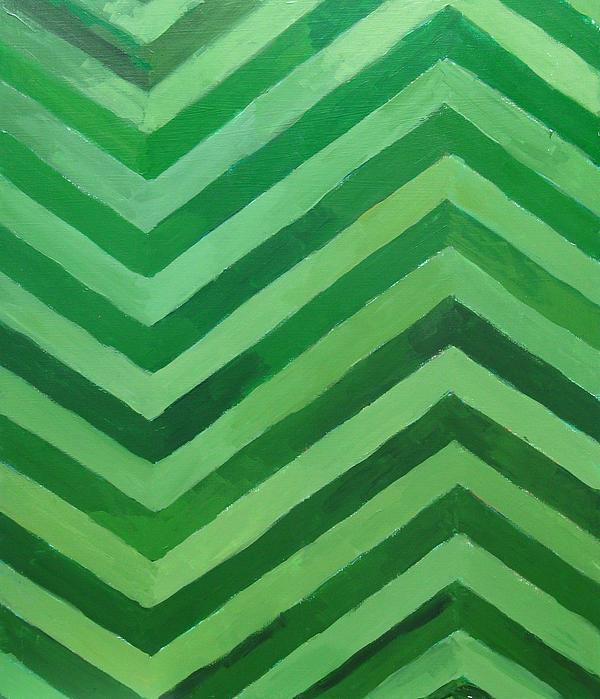 Green Stripes Print by Kazuya Akimoto