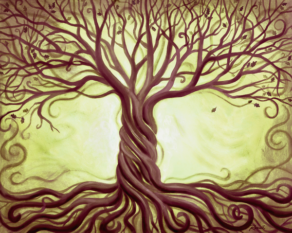 Green Tree Of Life Print by Renee Womack