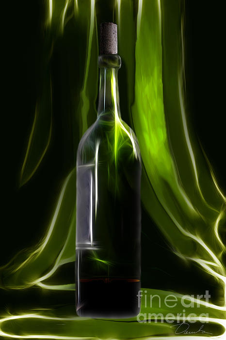 Danuta Bennett - Green wine bottle