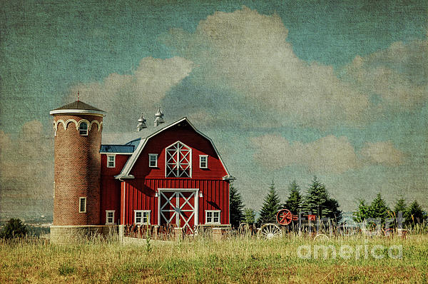 Greenbluff Barn Print by Reflective Moment Photography And Digital Art Images