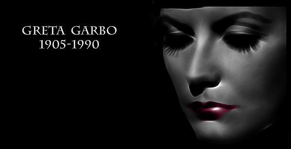 Greta Garbo 1905 1990 Print by Stefan Kuhn
