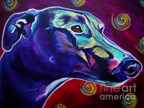 Greyhound -  Print by Alicia VanNoy Call