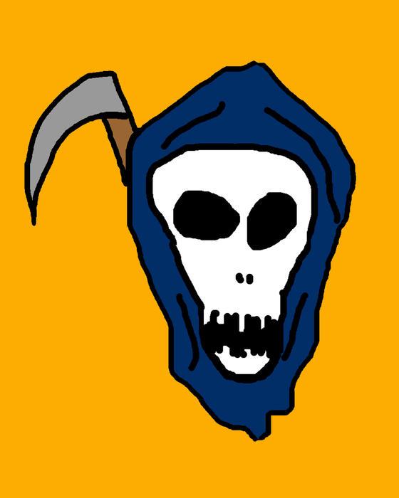 Grim Reaper Print by Jera Sky