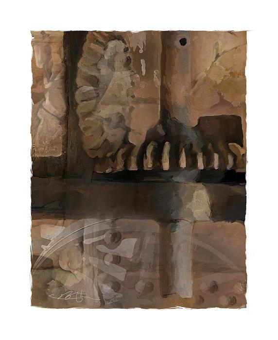 Grinder Print by Bob Salo