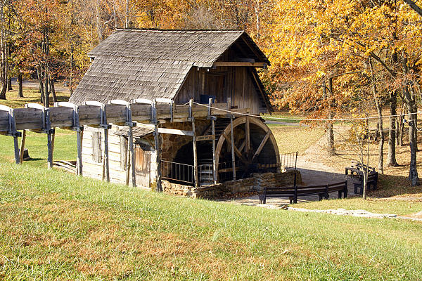 Grist Mill 2 Print by Franklin Conour