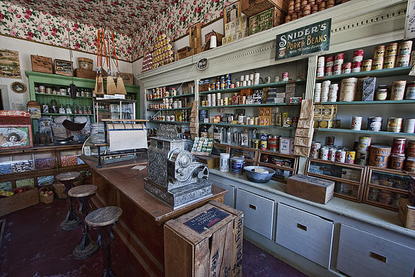Grocery Store Of Yesteryear - Virginia City Montana Ghost Town Print by Daniel Hagerman