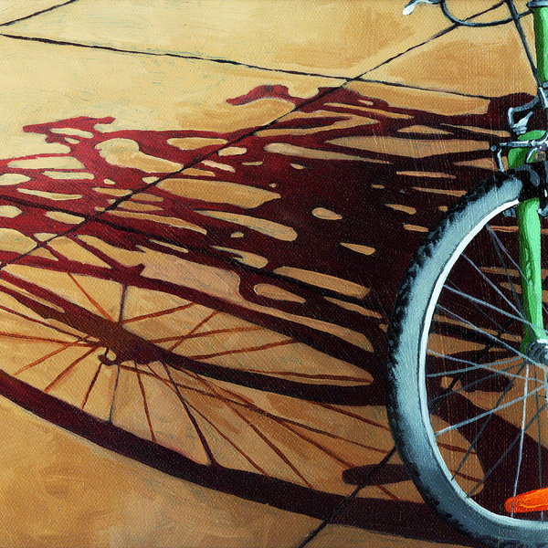 Group Hug - Bicycle Art Print by Linda Apple