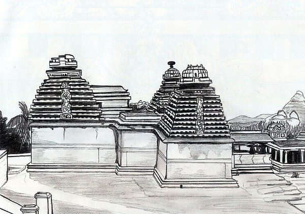 Group Of Jain Temples Hampi Print by Shashi Kumar