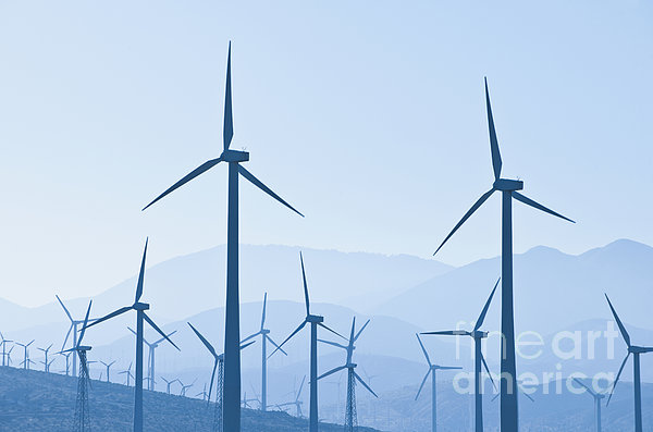 Group Of Wind Turbines Print by Dave & Les Jacobs