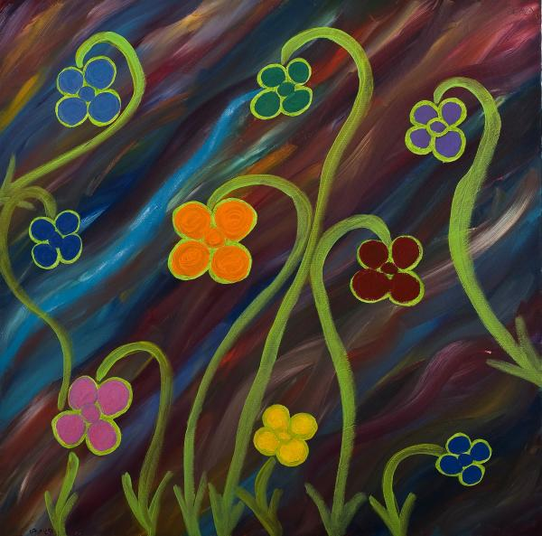 Growth Painting  - Growth Fine Art Print