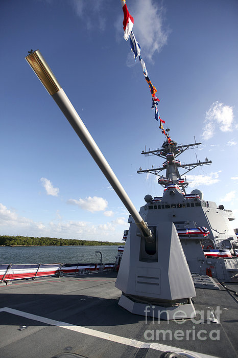 Guided-missile Destroyer Uss Jason Print by Stocktrek Images