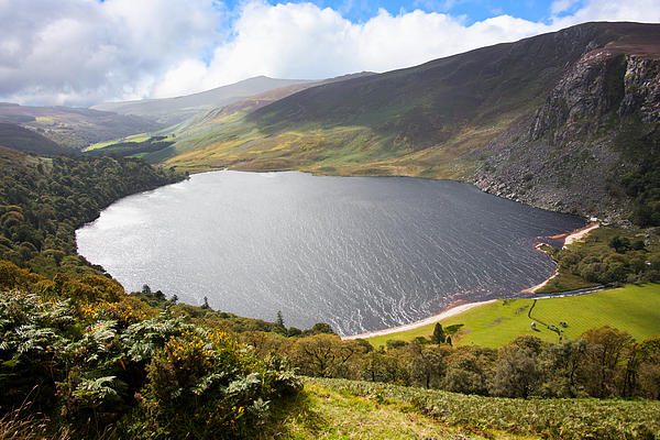 Guinness Lake In Wicklow Mountains  Ireland Print by Semmick Photo