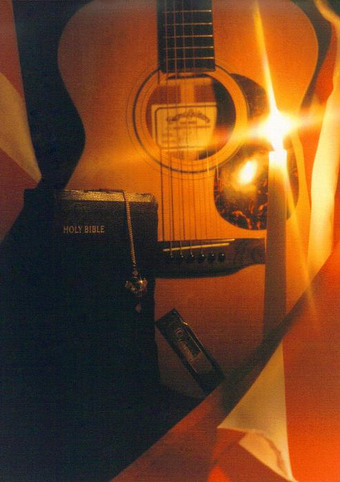 Guitar And Bible Photograph  - Guitar And Bible Fine Art Print