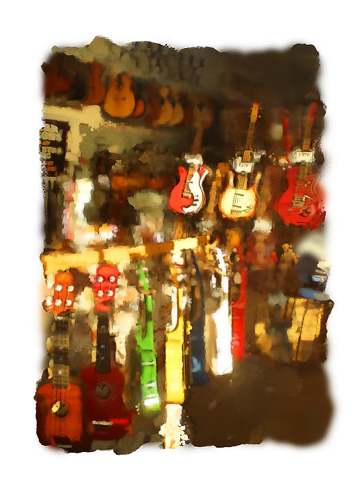 Guitar Shop Print by Geoff Strehlow